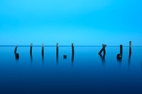 """Tranquility"" - Pilings in Twilight"