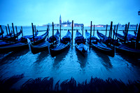 Gondolas at the Blue Hour